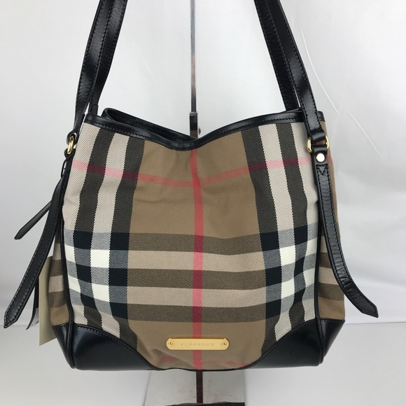 48b9a535ee26 Burberry Bridle House Check Canterbury Tote
